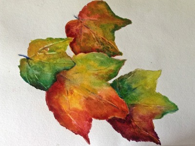 How to paint Autumn Leaves in watercolors, part 1