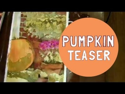 How to paint with Watercolors: Pumpkin Painting Teaser