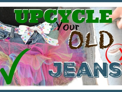 Make a tutu skirt out of your old Jeans!