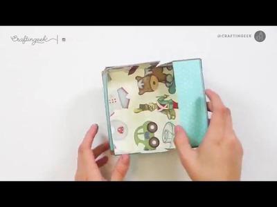 Maleta retro vintage de papel   Manualidades de papel   Craftingeek