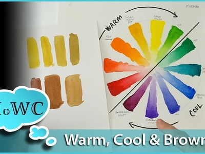 Mixing Browns with Watercolor Paint; Warm and Cool Colors