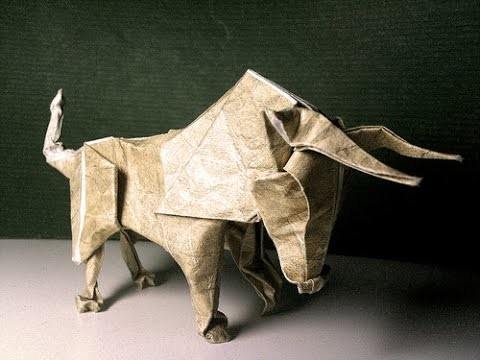 Origami Animals - How to make an Origami bull step-by-step