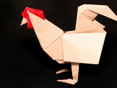 Origami rooster john montroll my crafts and diy projects for Ang pao origami