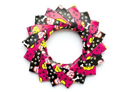 Origami Wreath. Modular Origami Ring