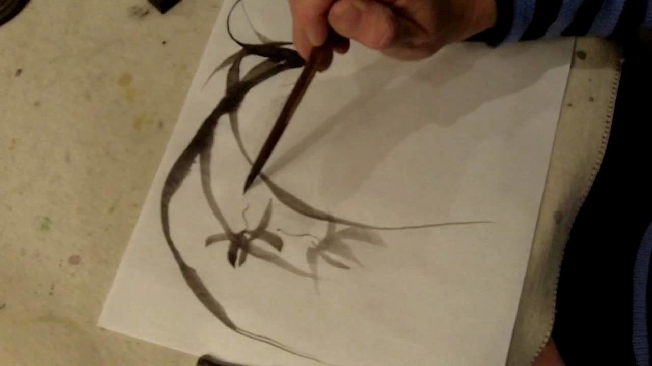 Painting the Wild Orchid in Sumi-e