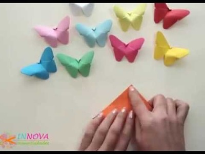 Paper butterflies (quick and easy)! By: Innova Manualidades