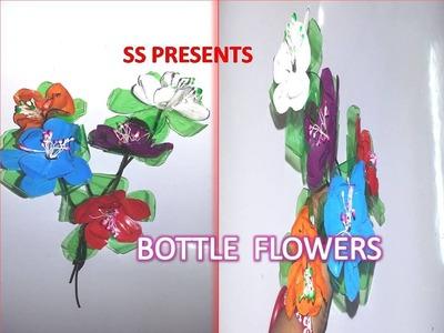 Plastic Bottle Decorative Mini Flowers