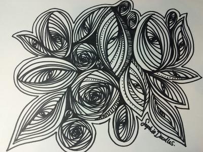 Pursuit Curve Circle and Oval (Doodle, Zentangle, Pursuit Curve, ASMR, Youtube)