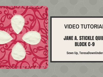 Video tutorial   Dear Jane quilt block C09