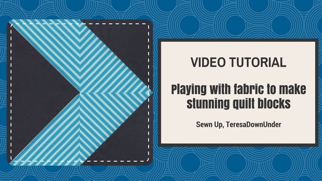 Video tutorial: playing with striped fabric and half square triangles HST
