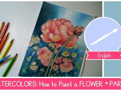 Watercolor ART CLASS: How to Paint a FLOWER (The Background)