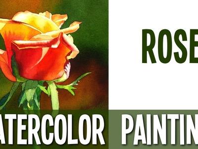 Watercolor Painting Tutorial - Rose