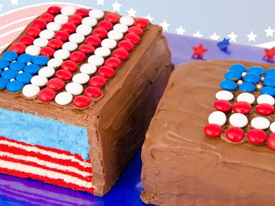 American Flag Giant Candy Bar for the 4th of July Dessert from Cookies Cupcakes and Cardio