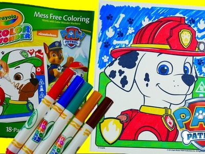 Coloring Marshall - New Paw Patrol Coloring Book Crayola Color Wonder Episode Evie's Toy House