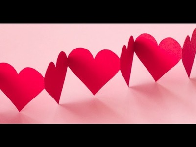 DIY Crafts - Paper Heart Design Valentine's Day  and Room Decor Ideas
