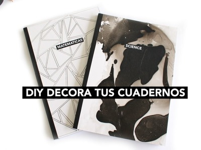 DIY DECORA TUS CUADERNOS. DIY NOTEBOOKS | Luciana Wk