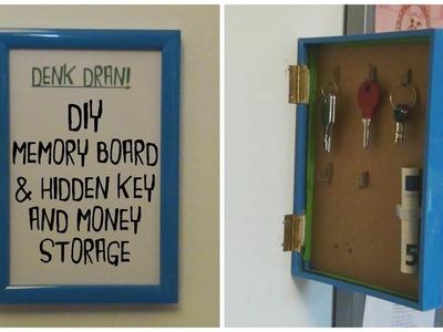 DIY memory board with hidden storage place