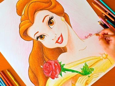 Drawing: PRINCESS BELLE   Disney   BUDGET ART