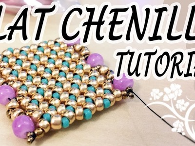 Flat Chenille Stitch Tutorial - A nice idea for a flat beadwork bracelet