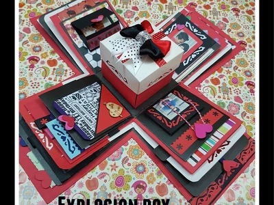 Gift idea.Explosion Box for friend.surprize box.birthday gift