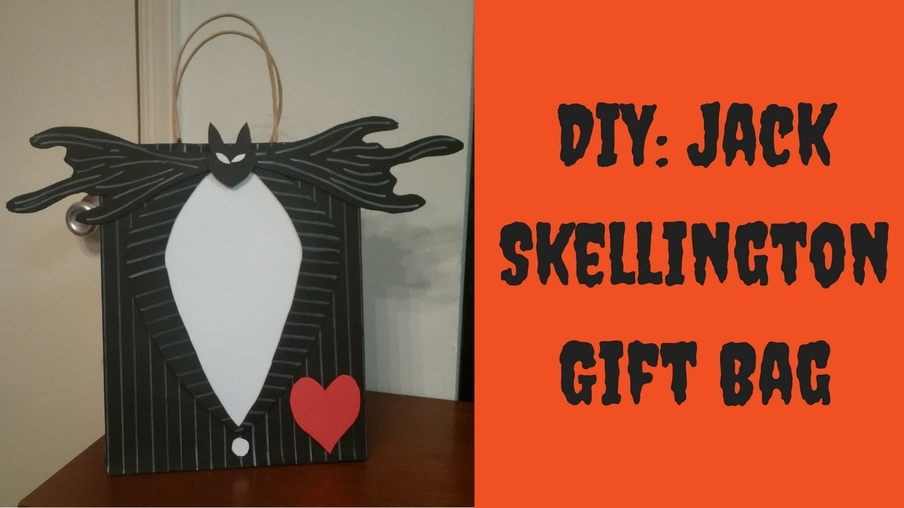 Halloween DIY - Nightmare Before Christmas Gift Bag - How to Decorate a Gift Bag
