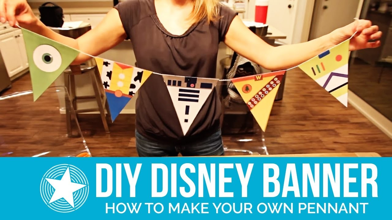 How to Make a DIY Pennant Banner with Disney Characters -- Includes FREE Printable Banners