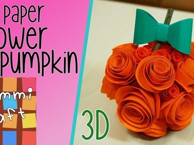 How to Make a Paper Pumpkin with Paper Flowers - Fall Table Decoration
