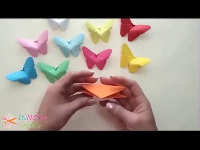 How to make colorful butterfly from a paper