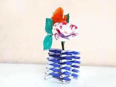 How to make diamond shape flower vase using paper   Crafts Bin