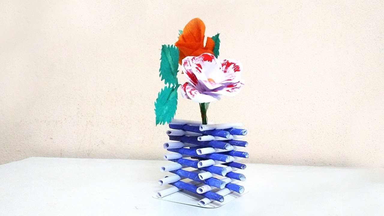 How to make diamond shape flower vase using paper   Crafts Bin
