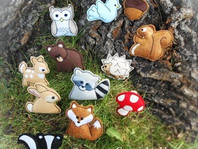 How to Make Felt Woodland Creatures
