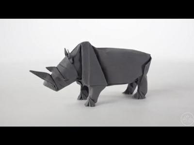 How to make rhino origami