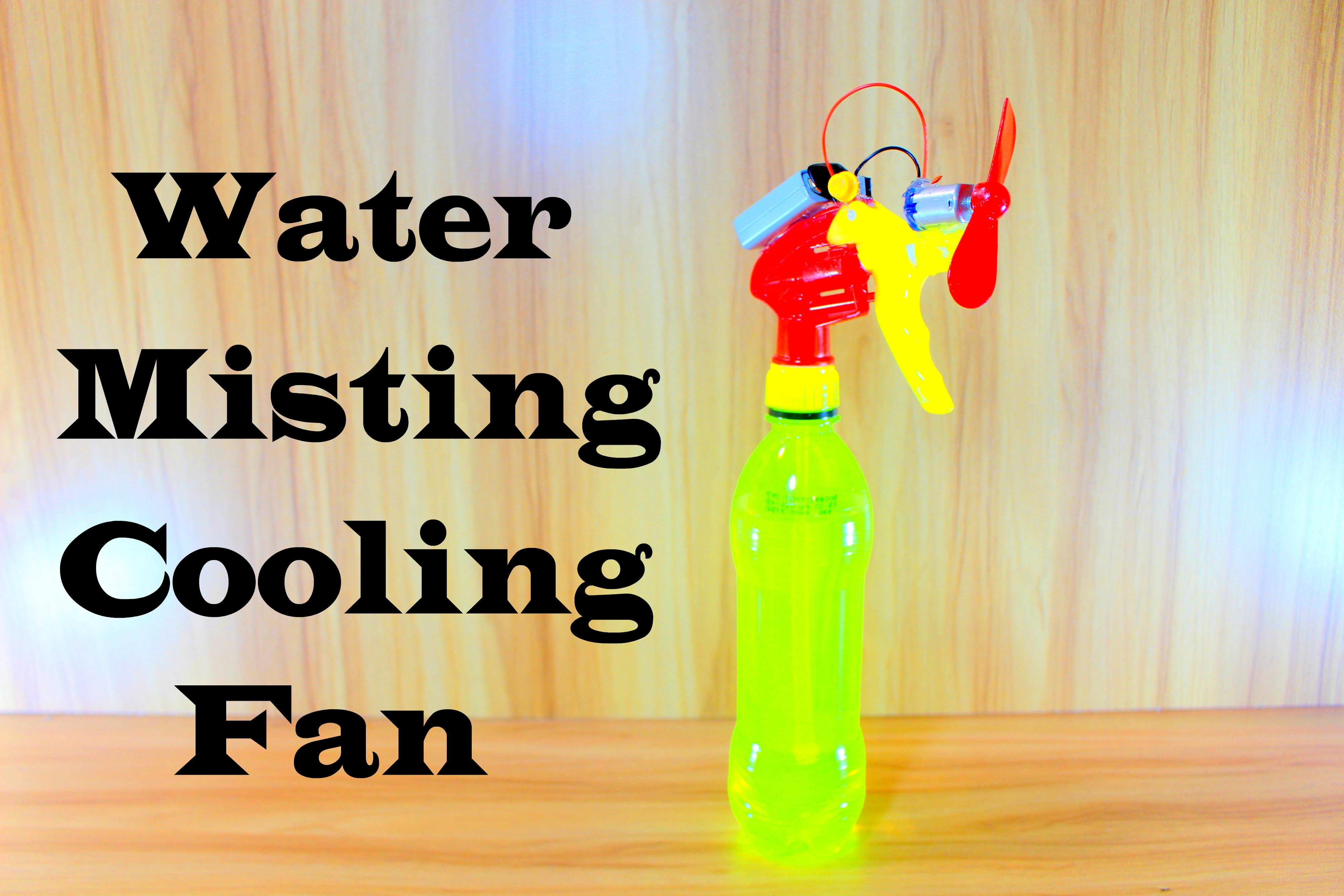 How to Make water Spray cooling Fan | How to Make Misting Fan