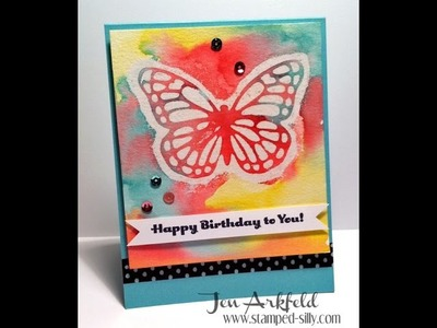 How to Watercolor Resist with Butterfly Thinlit