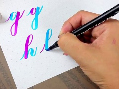 Improve your letters with this easy brush pen method