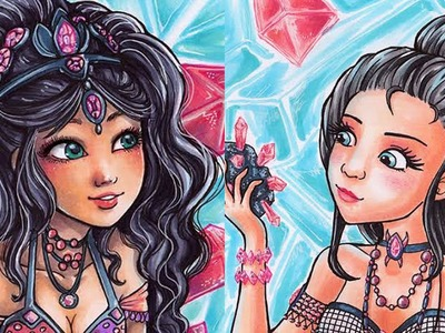 Jewel Sisters - Copic Marker Illustration [Sakuems Collaboration]