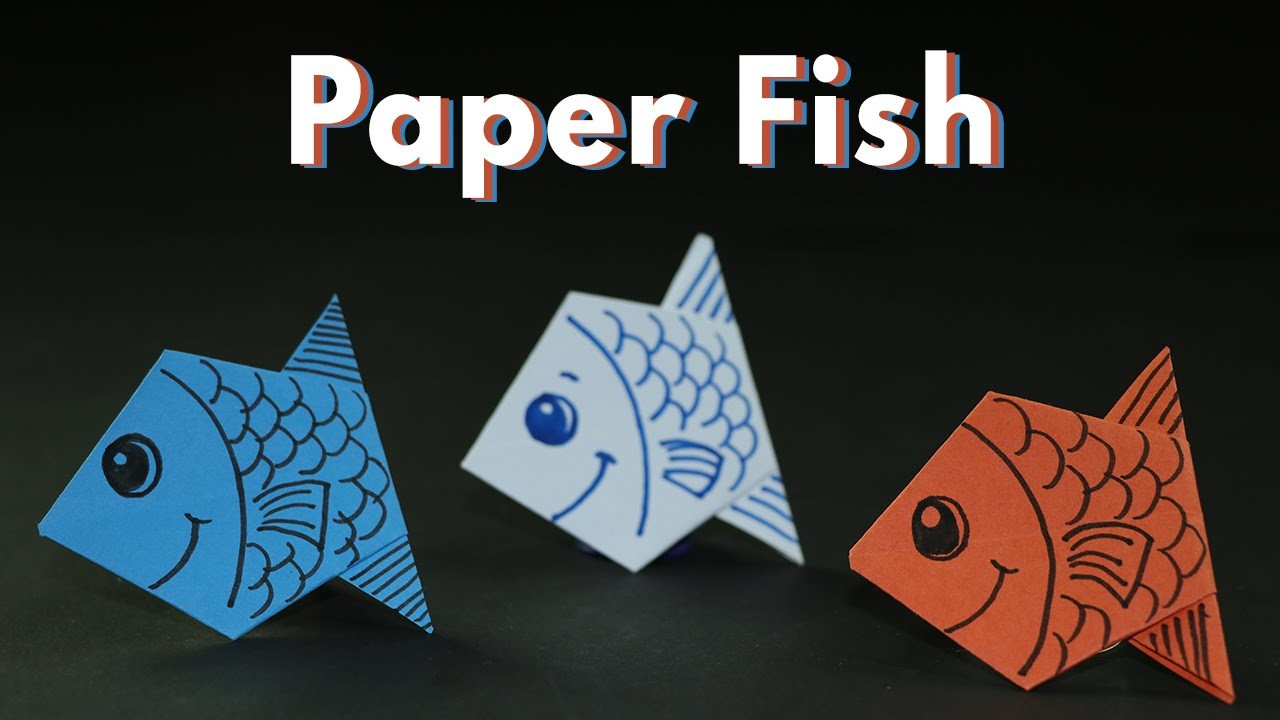 Kids Craft Ideas: Origami Paper Fishes for Kids, Simple and Easy Paper Crafts