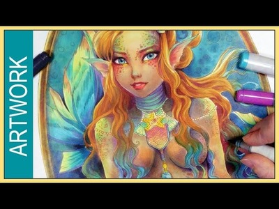 Nemesis ✬ Copic Marker Fantasy Art Mermaid Illustration ✬ by Sakuems