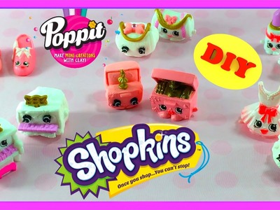 Poppit Series 1 Shopkins Activity Pack - Air Dry  - Create Your Own Shopkins