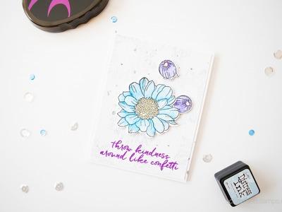 Simple & Bold Watercoloring w. Altenew Spring Daisy