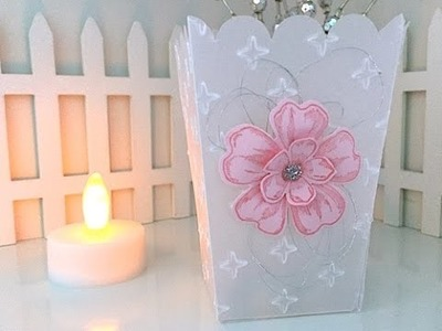 Simply Simple POPCORN BOX Vellum Tea Light by Connie Stewart