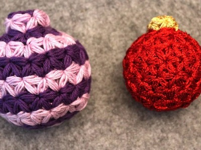 Triangle Star Stitch - Christmas Tree Ornament Part 2 - Crochet Tutorial