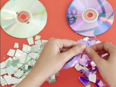 Turn Old CD's into a Glittering Address Sign