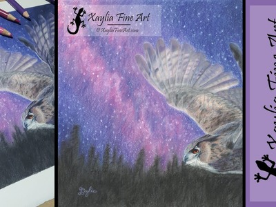 Tutorial: how to draw a starry night sky in coloured pencils