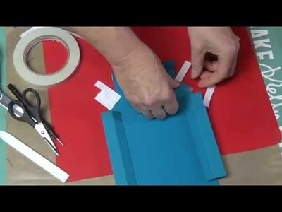 Tutorial : Shadow Box with One Piece 12 x 12 Cardstock