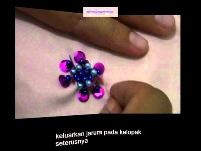 Video tutorial Sulaman Manik labuci bersayap