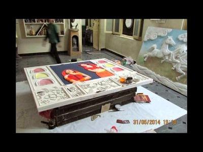 3D Mural making process