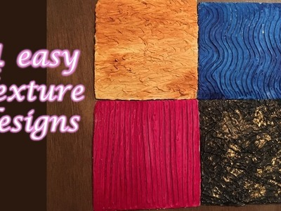 4 easy Texture designs & techniques tutorial -1 | Textures for beginners