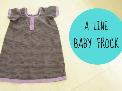 A LINE BABY FROCK | MEASUREMENT,CUTTING SEWING | ANJALEE SHARMA