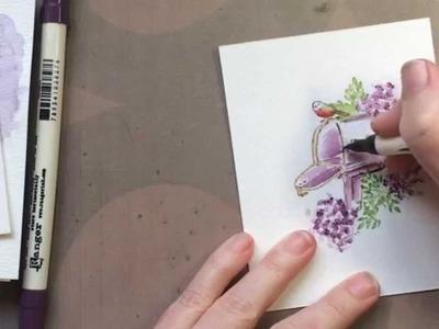 Art Impressions Watercolor Mini Stamp Set Tutorial